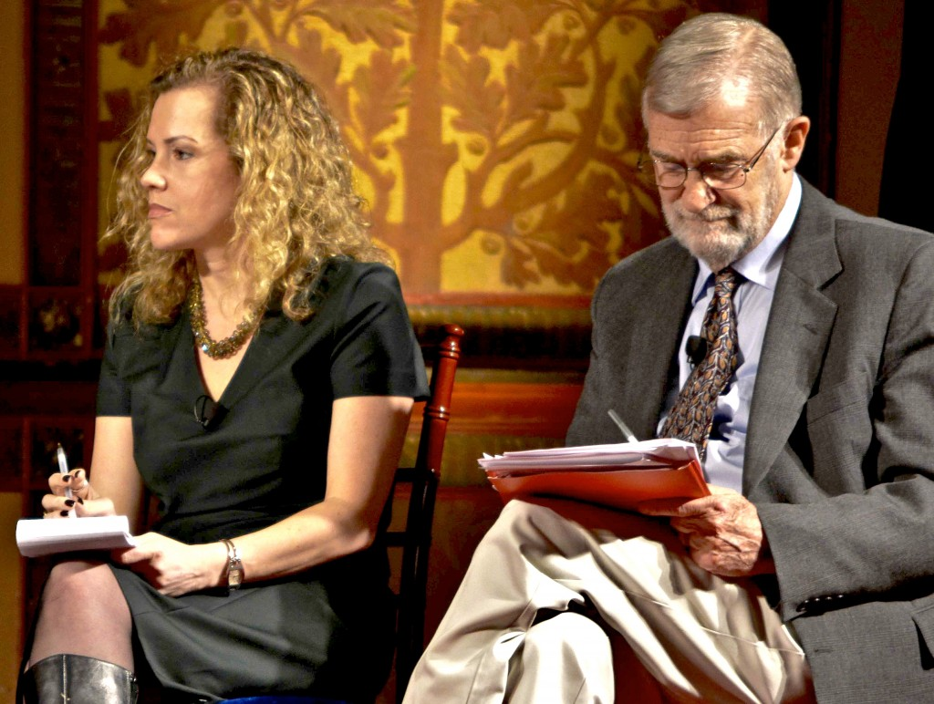 Jesselyn Radack and Ray McGovern, Georgetown University, April 22, 2014.