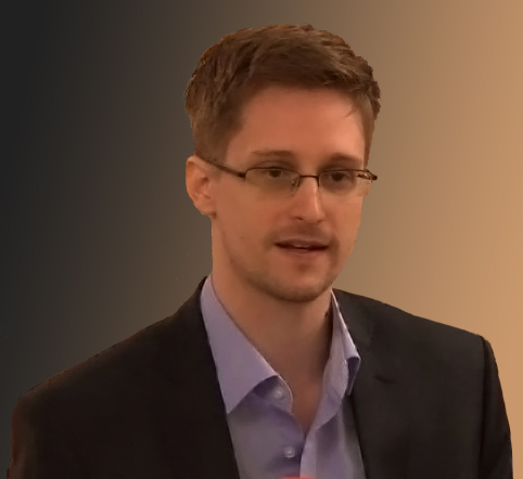 Edward Snowden. Wikimedia Commons image, edited by Linda Lewis.